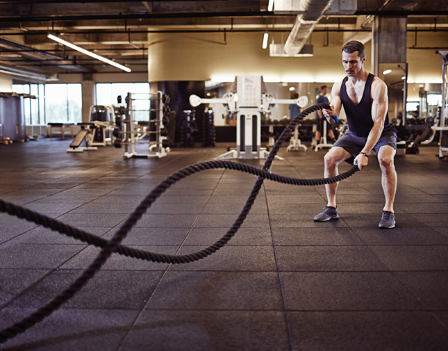 Scientifically-Proven Workout, UCLA, California, workout, fitness, health, exercise, gym, body, cycle 3, metabolic, battle rope intervals,