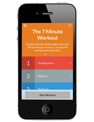 7 Minute Workout App, Iphone, Ipad, Android, workout, exercise, phsyical, activity, fitness, health, technology