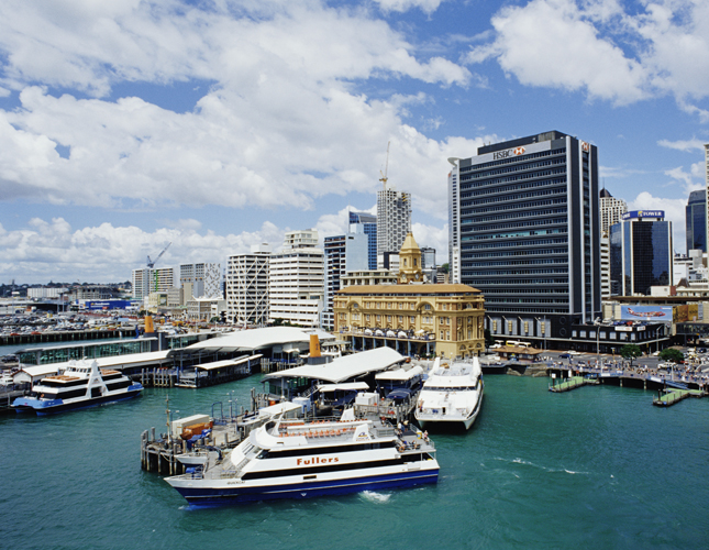 Auckland, New Zealand, water, ocean, natural, scenery, Waitemata Harbour, harbor, city, urban, travel, destination