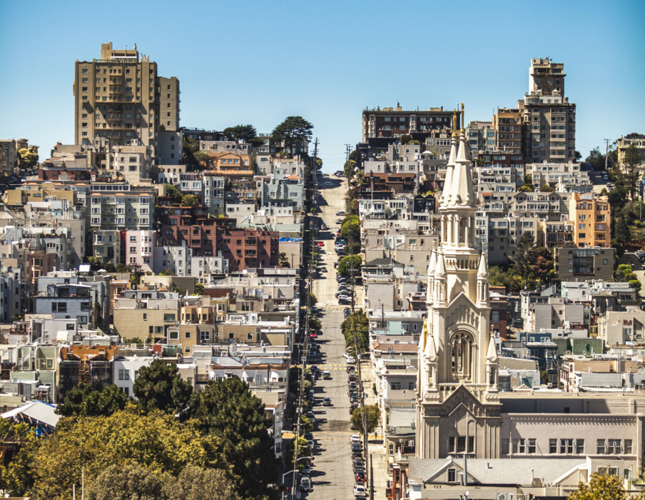 San Francisco, California, CA, SF, hills, City, view, walking, hiking, urban, buildings