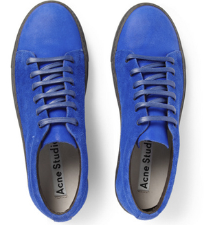 Q Blog, Mr. Porter, Mike Rosenthal, Shoe Round Up, Photographer, Equinox, Sneakers, Men's, Fashion, Style, Shoes, Footwear, comfort, Acne Studios, Suede, Low Top, Shop, Electric Blue
