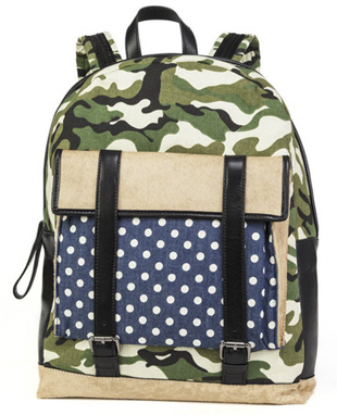 Q Blog, Timo Weiland, Beach Essentials, Summer Shopping, Summer, New York Designer, Fashion, Beach, Timo Weiland Backpack, Camo, polka dots