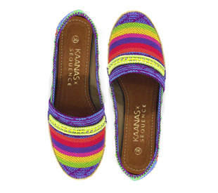 Kaanas slip ons, shoes, neon colored shoes, summer shoes, bright colored shoes