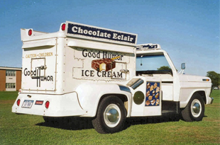 good humor ice cream truck, q by equinox, ice cream, summer treats