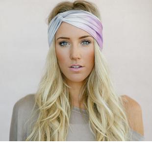 Three Bird Nest Ombre Twist Turband, headband, ombre headband, yoga gear, yoga, hair, beauty, hair products, q by equinox
