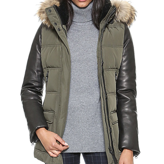 Mackage Orla down , winter , outerwear, shopbop, leather sleeved , christmas presents, presents, gifts, holiday